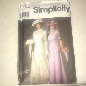 Simplicity Other | 1900s Wedding Dress Pattern | Poshmark